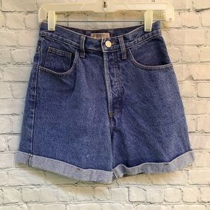 Guess Vintage High Waist Button Fly  Jean Shorts